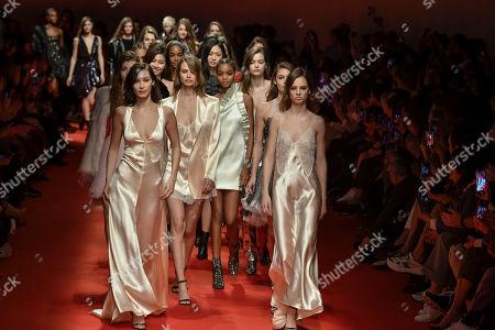 Editorial image of Philosophy di Lorenzo Serafini show, Runway, Fall Winter 2019, Milan Fashion Week, Italy - 23 Feb 2019