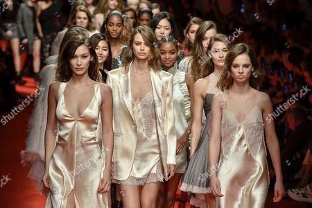 Stock Photo of Bella Hadid Birgit Kos Giselle Norman on the catwalk