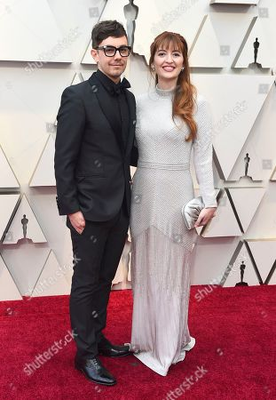 Jorma Taccone, Marielle Heller. Jorma Taccone, left, and Marielle Heller arrive at the Oscars, at the Dolby Theatre in Los Angeles
