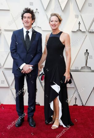 Robbie Ryan (L) and guest arrive for the 91st annual Academy Awards ceremony at the Dolby Theatre in Hollywood, California, USA, 24 February 2019. The Oscars are presented for outstanding individual or collective efforts in 24 categories in filmmaking.