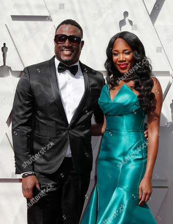 Stock Image of DJ M.O.S. (L) and DJ Kiss (R) arrive for the 91st annual Academy Awards ceremony at the Dolby Theatre in Hollywood, California, USA, 24 February 2019. The Oscars are presented for outstanding individual or collective efforts in 24 categories in filmmaking.