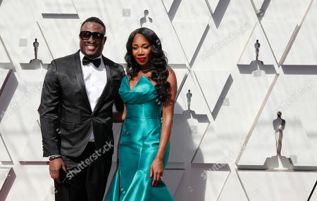DJ M.O.S. (L) and DJ Kiss (R) arrive for the 91st annual Academy Awards ceremony at the Dolby Theatre in Hollywood, California, USA, 24 February 2019. The Oscars are presented for outstanding individual or collective efforts in 24 categories in filmmaking.