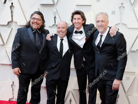 Sergio Diaz, Jose Antonio Garcia, Skip Lievsay and Craig Henighan arrives for the 91st annual Academy Awards ceremony at the Dolby Theatre in Hollywood, California, USA, 24 February 2019. The Oscars are presented for outstanding individual or collective efforts in 24 categories in filmmaking.
