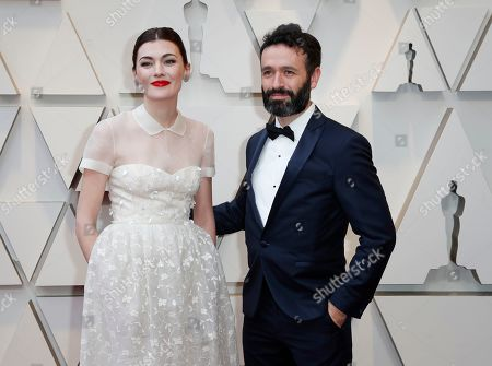Rodrigo Sorogoyen (R) andf Marta Nieto arrives for the 91st annual Academy Awards ceremony at the Dolby Theatre in Hollywood, California, USA, 24 February 2019. The Oscars are presented for outstanding individual or collective efforts in 24 categories in filmmaking.