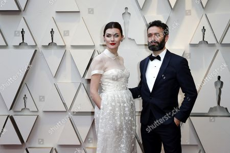 Rodrigo Sorogoyen (R) and Marta Nieto arrive for the 91st annual Academy Awards ceremony at the Dolby Theatre in Hollywood, California, USA, 24 February 2019. The Oscars are presented for outstanding individual or collective efforts in 24 categories in filmmaking.