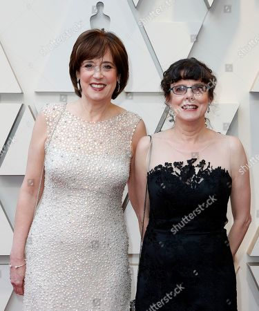 Betsy West (L) and Julie Cohen arrive for the 91st annual Academy Awards ceremony at the Dolby Theatre in Hollywood, California, USA, 24 February 2019. The Oscars are presented for outstanding individual or collective efforts in 24 categories in filmmaking.