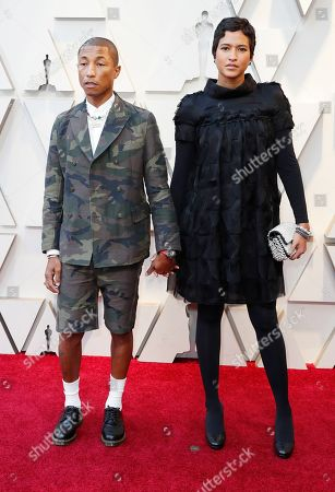 Pharrell Williams (L) and Helen Lasichanh arrives for the 91st annual Academy Awards ceremony at the Dolby Theatre in Hollywood, California, USA, 24 February 2019. The Oscars are presented for outstanding individual or collective efforts in 24 categories in filmmaking.