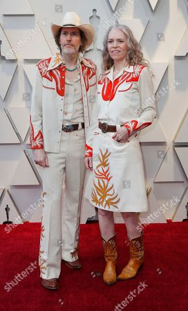 David Rawlings (L) and Gillian Welch (R) arrives for the 91st annual Academy Awards ceremony at the Dolby Theatre in Hollywood, California, USA, 24 February 2019. The Oscars are presented for outstanding individual or collective efforts in 24 categories in filmmaking.