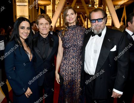 Willem DaFoe, Giada Colagrande, Louise Kugelberg, Julian Schnabel. Giada Colagrande, from left, Willem DaFoe, Louise Kugelberg, and Julian Schnabel arrive at the Oscars, at the Dolby Theatre in Los Angeles