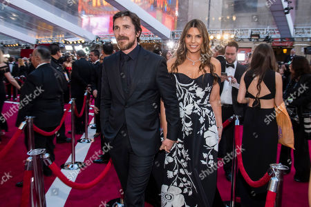 Christian Bale, Sibi Blazic. Christian Bale and Sibi Blazic arrive at the Oscars, at the Dolby Theatre in Los Angeles