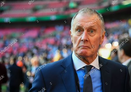 Sir Geoff Hurst pulls a face for the camera