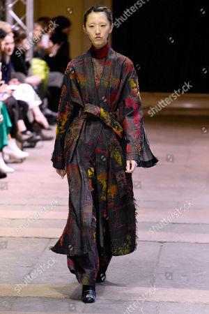 Editorial picture of Cristiano Burani show, Runway, Fall Winter 2019, Milan Fashion Week, Italy - 24 Feb 2019