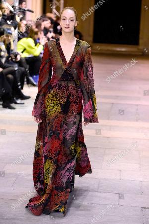 Editorial image of Cristiano Burani show, Runway, Fall Winter 2019, Milan Fashion Week, Italy - 24 Feb 2019