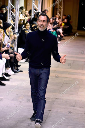 Stock Picture of Cristiano Burani on the catwalk