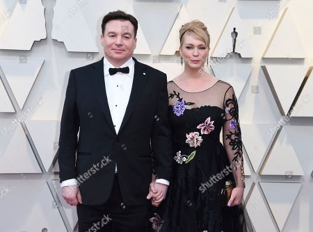 Stock Image of Kelly Tisdale, Mike Myers. Mike Myers, left, and Kelly Tisdale arrive at the Oscars, at the Dolby Theatre in Los Angeles