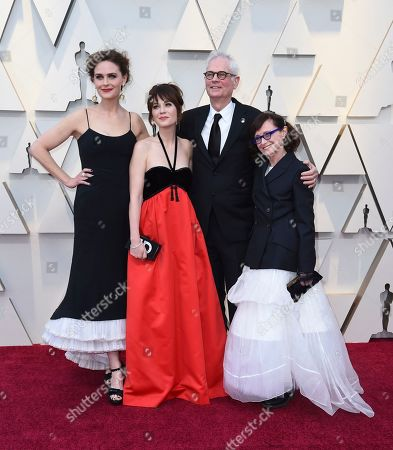 Emily Deschanel, Zooey Deschanel, Caleb Deschanel, Mary Jo Deschanel. Emily Deschanel, from left, Zooey Deschanel, Caleb Deschanel and Mary Jo Deschanel arrive at the Oscars, at the Dolby Theatre in Los Angeles