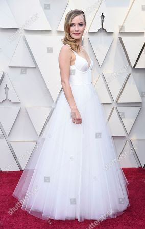 Saskia Rosendahl arrives at the Oscars, at the Dolby Theatre in Los Angeles