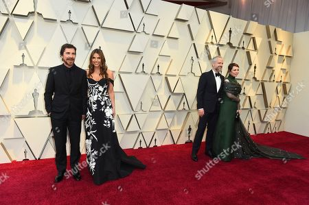 Stock Photo of Christian Bale, Sibi Blazic, Ed Sinclair, Olivia Colman. Christian Bale, from left, Sibi Blazic, Ed Sinclair, and Olivia Colman arrive at the Oscars, at the Dolby Theatre in Los Angeles