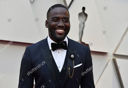 Shamier Anderson arrives at the Oscars, at the Dolby Theatre in Los Angeles