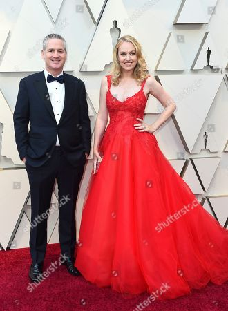 Lynette Howell Taylor, right, arrives at the Oscars, at the Dolby Theatre in Los Angeles