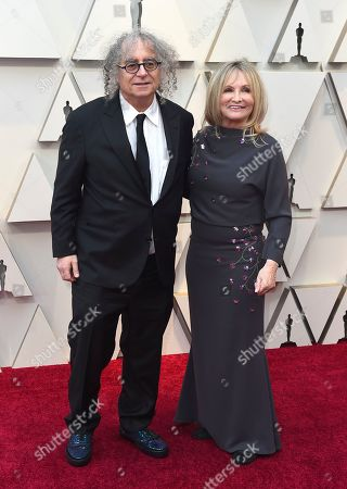 Stock Photo of Hank Corwin, Nancy Corwin. Hank Corwin, left, and Nancy Corwin arrive at the Oscars, at the Dolby Theatre in Los Angeles