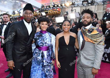 Mahershala Ali, Amatus Sami-Karim, Zinzi Evans, Ryan Coogler. Mahershala Ali, from left, Amatus Sami-Karim, Zinzi Evans and Ryan Coogler arrive at the Oscars, at the Dolby Theatre in Los Angeles