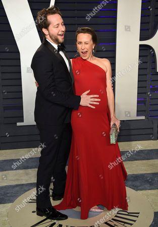 Derek Blasberg, Anne Wojcicki. Derek Blasberg, left, and Anne Wojcicki arrive at the Vanity Fair Oscar Party, in Beverly Hills, Calif