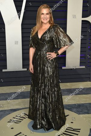 Stock Image of Krista Smith arrives at the Vanity Fair Oscar Party, in Beverly Hills, Calif