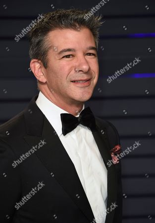 Travis Kalanick arrives at the Vanity Fair Oscar Party, in Beverly Hills, Calif