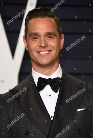 Karl Schmid arrives at the Vanity Fair Oscar Party, in Beverly Hills, Calif