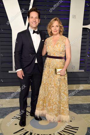 Paul Rudd, Julie Yaeger. Paul Rudd, left, and Julie Yaeger arrive at the Vanity Fair Oscar Party, in Beverly Hills, Calif