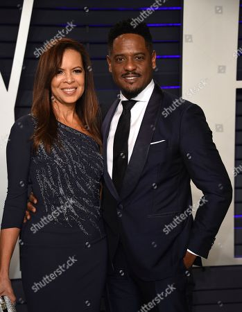 Stock Picture of Desiree DaCosta, Blair Underwood. Desiree DaCosta, left, and Blair Underwood arrive at the Vanity Fair Oscar Party, in Beverly Hills, Calif