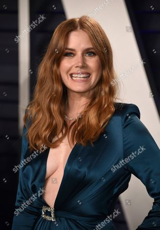 Amy Adams arrives at the Vanity Fair Oscar Party, in Beverly Hills, Calif