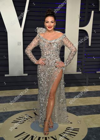 Stock Image of Bleona Qereti arrives at the Vanity Fair Oscar Party, in Beverly Hills, Calif