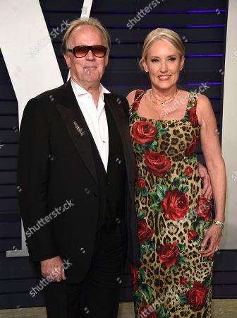 Peter Fonda, Margaret DeVogelaere. Peter Fonda, left, and Margaret DeVogelaere arrive at the Vanity Fair Oscar Party, in Beverly Hills, Calif