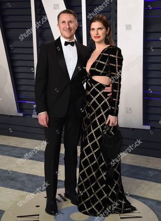 Scott Campbell, Lake Bell. Scott Campbell, left, and Lake Bell arrive at the Vanity Fair Oscar Party, in Beverly Hills, Calif