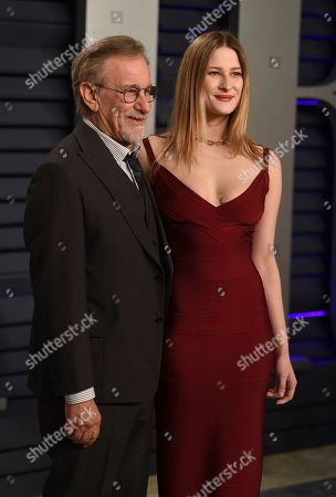 Steven Spielberg, Sasha Spielberg. Steven Spielberg, left, and Sasha Spielberg arrive at the Vanity Fair Oscar Party, in Beverly Hills, Calif