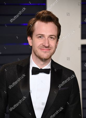 Joseph Mazzello arrives at the Vanity Fair Oscar Party, in Beverly Hills, Calif