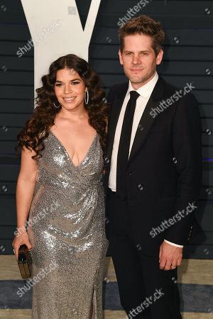 Stock Picture of America Ferrera and Ryan Piers Williams