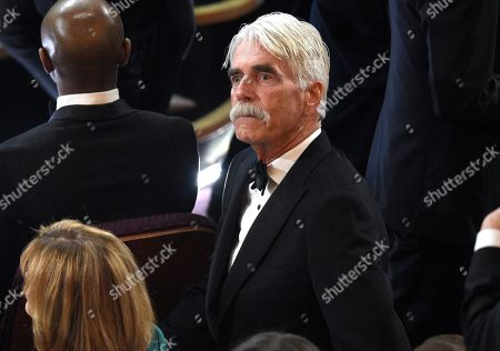 Sam Elliott is seen in the audience at the Oscars, at the Dolby Theatre in Los Angeles