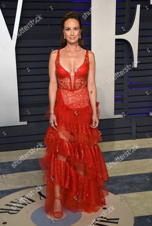 Catt Sadler arrives at the Vanity Fair Oscar Party, in Beverly Hills, Calif