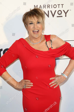 Lorna Luft arrives at the 2019 Elton John AIDS Foundation Oscar Viewing Party, in West Hollywood, Calif