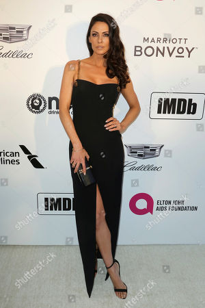 Summer Altice arrives at the 2019 Elton John AIDS Foundation Oscar Viewing Party, in West Hollywood, Calif