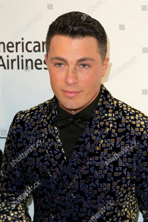 Colton Haynes arrives at the 2019 Elton John AIDS Foundation Oscar Viewing Party, in West Hollywood, Calif