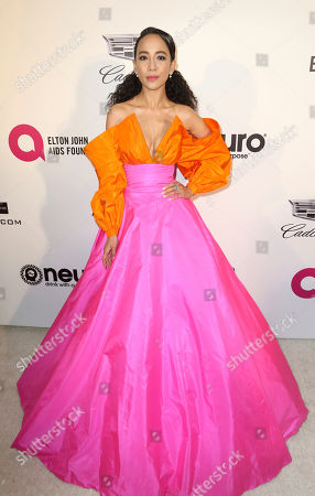 Fiona Xie arrives at the 2019 Elton John AIDS Foundation Oscar Viewing Party, in West Hollywood, Calif