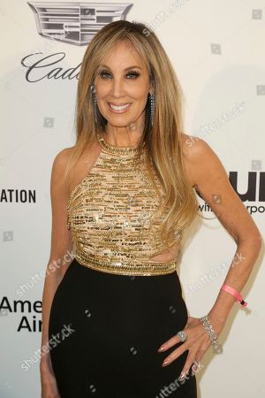 Stock Picture of Cindy Cowan arrives at the 2019 Elton John AIDS Foundation Oscar Viewing Party, in West Hollywood, Calif