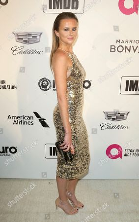 Daniela Hantuchova arrives at the 2019 Elton John AIDS Foundation Oscar Viewing Party, in West Hollywood, Calif
