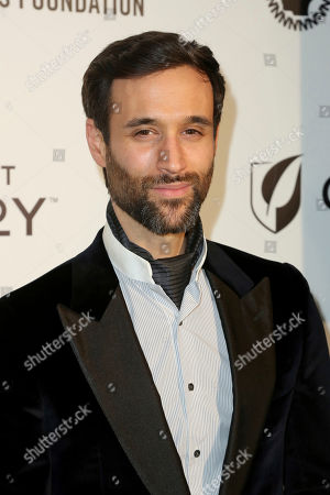 Stock Picture of Rik Makarem arrive at the 2019 Sir Elton John AIDS Foundation Oscar Viewing Party, in West Hollywood, Calif