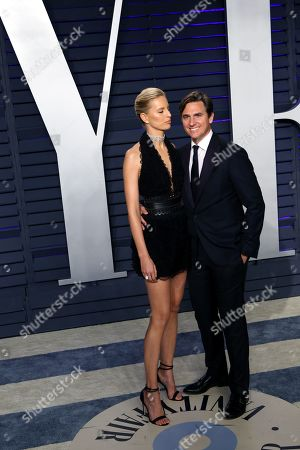 Karolina Kurkova (L) and Archie Drury (R) pose at the 2019 Vanity Fair Oscar Party following the 91th annual Academy Awards ceremony, in Beverly Hills, California, USA, 24 February 2019. The Oscars are presented for outstanding individual or collective efforts in 24 categories in filmmaking. The Oscars are presented for outstanding individual or collective efforts in 24 categories in filmmaking.