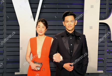 Kerri Higuchi (L) and John Cho (R) pose at the 2019 Vanity Fair Oscar Party following the 91th annual Academy Awards ceremony, in Beverly Hills, California, USA, 24 February 2019. The Oscars are presented for outstanding individual or collective efforts in 24 categories in filmmaking. The Oscars are presented for outstanding individual or collective efforts in 24 categories in filmmaking.